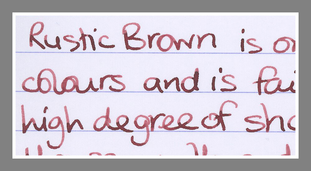 diamine rustic brown ink reviews the fountain pen network